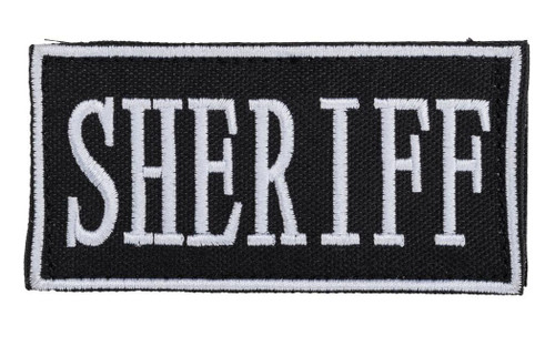"Voodoo Tactical ""Sheriff"" Embroidered Hook and Loop Morale Patch - Black / Small"