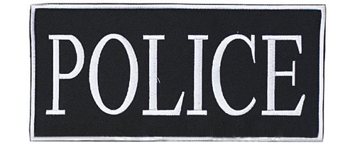 "Voodoo Tactical ""Police"" Embroidered Hook and Loop Morale Patch - White - Large"