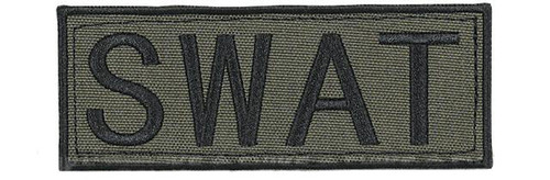 "Voodoo Tactical ""SWAT"" Embroidered Hook and Loop Morale Patch - OD Green - Small"