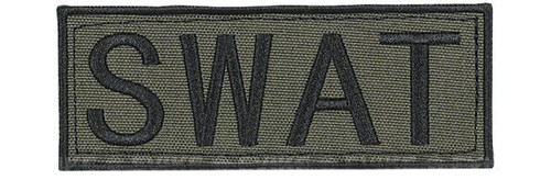 "Voodoo Tactical ""SWAT"" Embroidered Hook and Loop Morale Patch - OD Green - Large"
