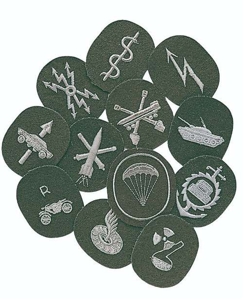 East German Asst. Army Branch Patches