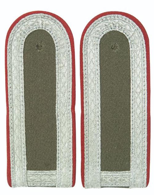 East German Burgundy St. Sgt. Shoulder Boards