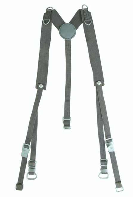 East German Grey Field Suspenders