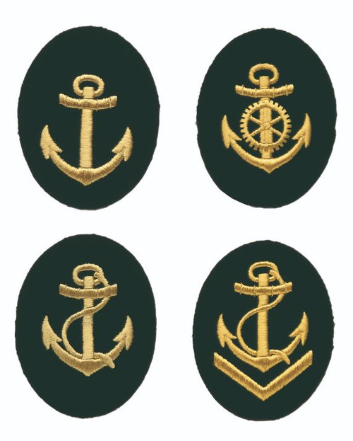 East German Navy Branch Patches