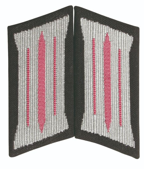 East German Pink Em Collar Tabs New