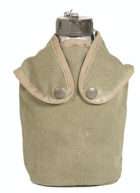 French Armed Forces Aluminum Canteen w/Cup & Cover