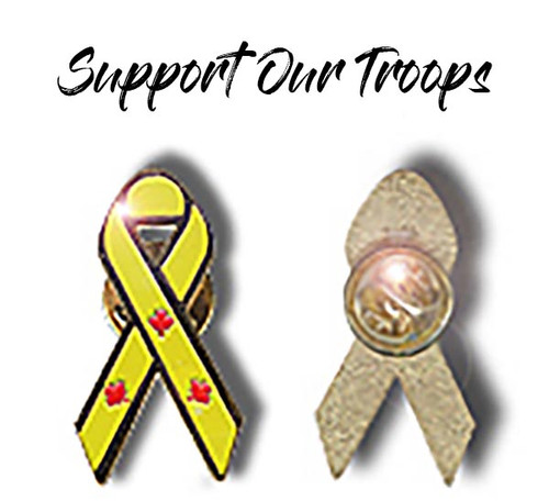 Support Our Troops Pin - Yellow