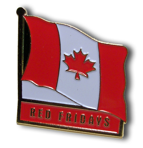 Red Fridays Canadian Flag Lapel Pin