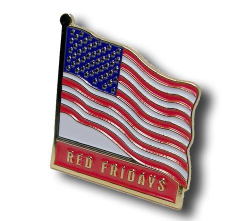Red Fridays U.S.  Flag Lapel Pin