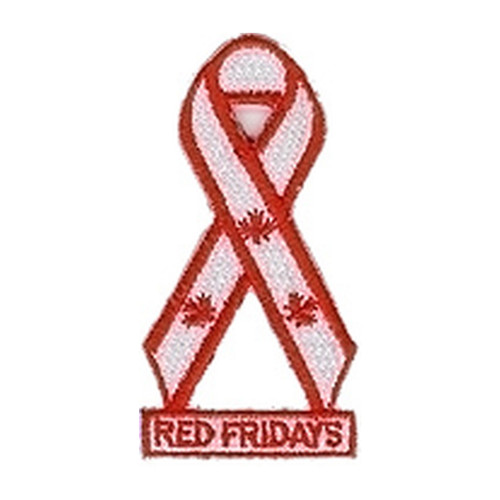 """Red Fridays Signature Ribbon Patch 3"""""""