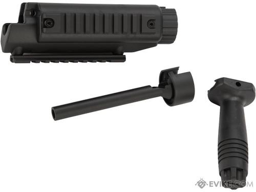H&K Railed Handguard Kit w/ Metal Outer Barrel & Vertical Grip for MP5 Series Airsoft AEG Sub Machine Guns
