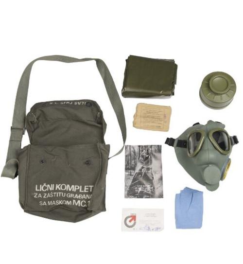 Serbian Gas Mask w/Bag & Filter
