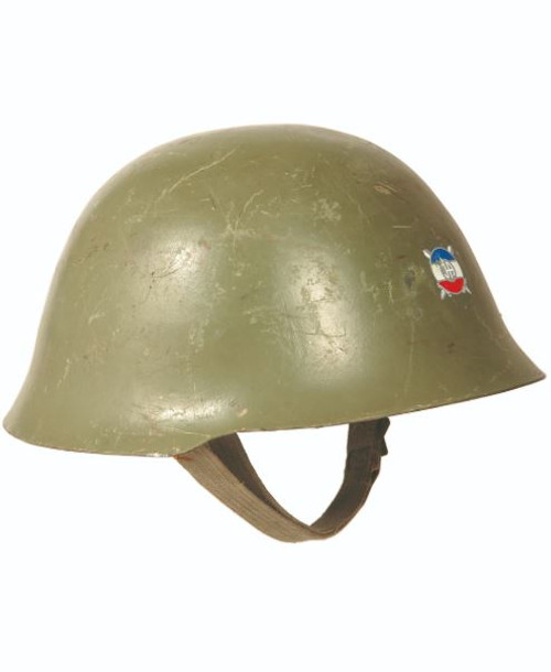Serbian Armed Forces OD Steel Helmet