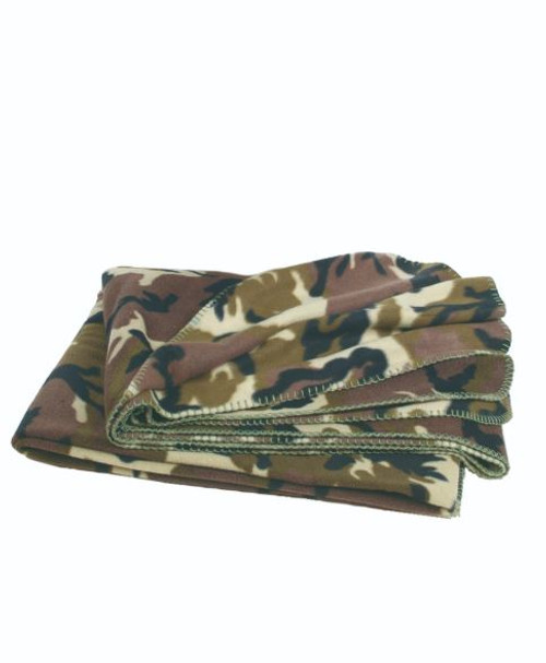 Mil-Tec Woodland Camo Fleece Blanket (79″X59″)