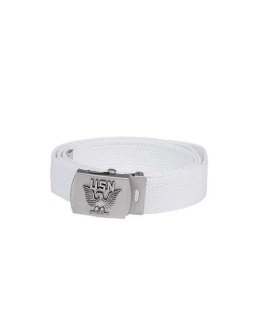 MIL-TEC White Navy Belt w/Buckle