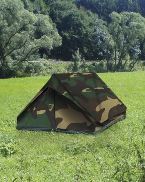 MIL-TEC Woodland Camo 2-Man Mini-Pack Tent
