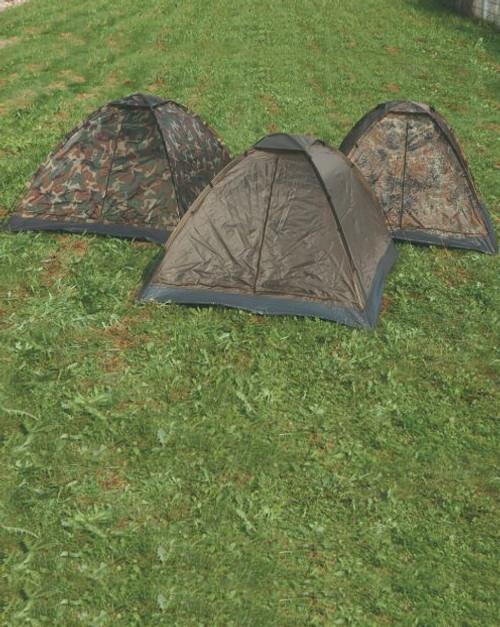 MIL-TEC Woodland Camo 3-Man Igloo Tent