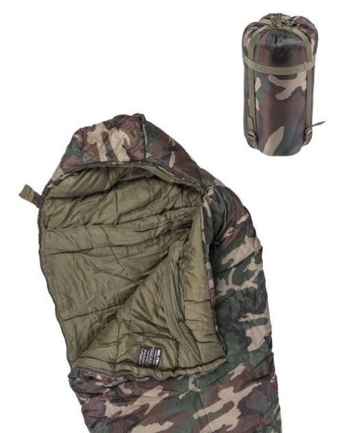 Mil-Tec Woodland Camo 400GR. Mummy Sleeping Bag
