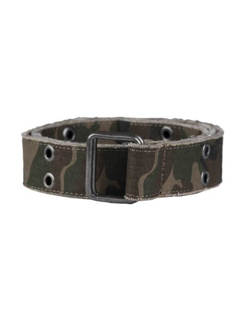 MIL-TEC Woodland Camo Canvas Trouser Belt