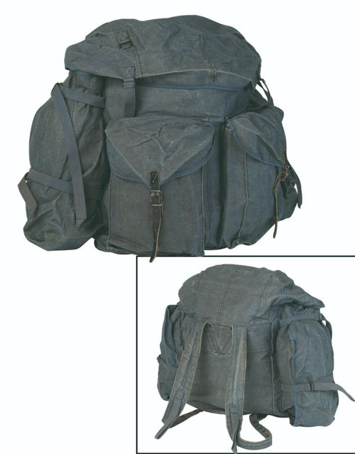 Italian Armed Forces Blue Canvas Rucksack