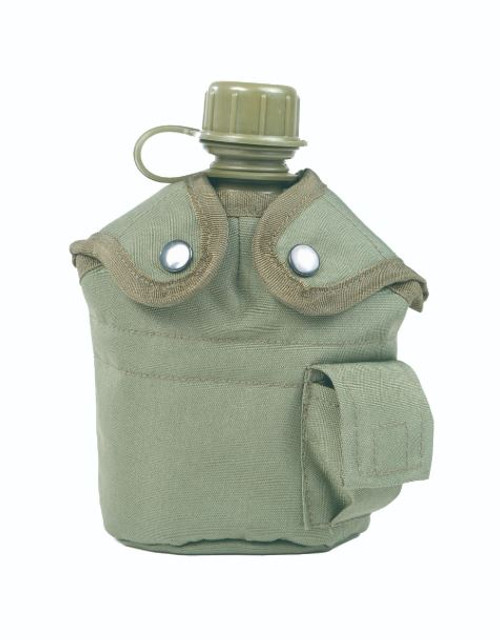Mil-Tec OD Plastic Canteen w/Cup & Cover