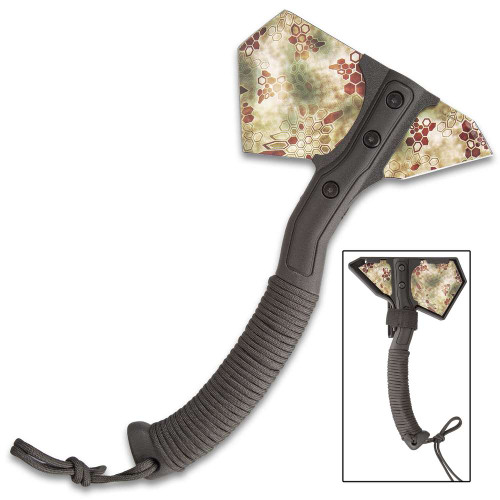Vector Camouflage Field Axe w/Sheath