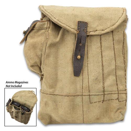 Romanian Four-Pocket AK-47 Leather Mag Pouch
