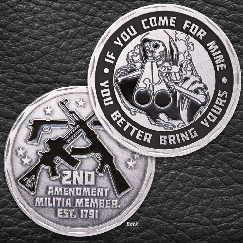 If You Come For Mine Challenge Coin