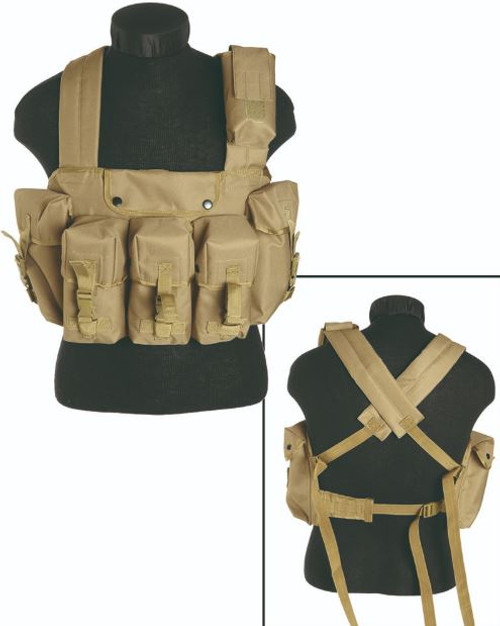 Mil-Tec Coyote 6-Pkt. Chest Rig