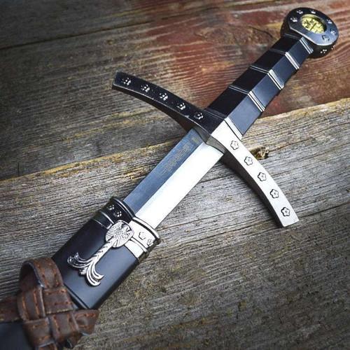 "23"" King Arthur Medieval Historical Short Sword Dagger Knife Scabbard & Sheath"