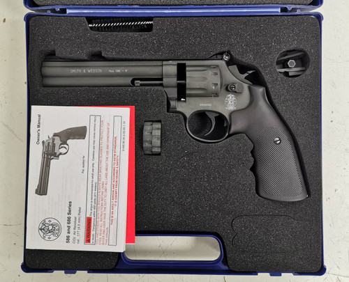 """Umarex Smith & Wesson 586 CO2 BB Revolver 6"""" 4.5mm - Black - USED"""