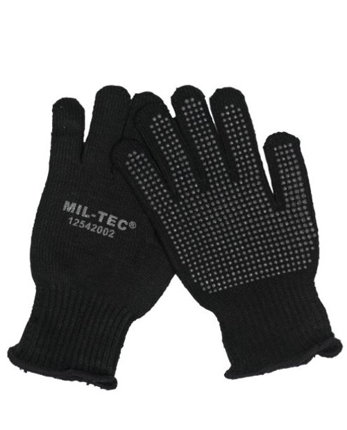 MIL-TEC Black Gripper Gloves