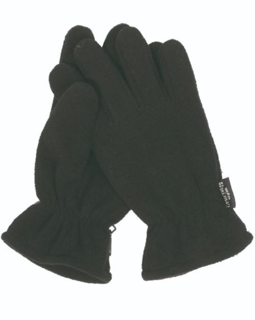 MIL-TEC Black Thinsulate Fleece Gloves