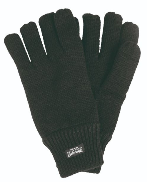 MIL-TEC Black Acrylic Thinsulate Gloves