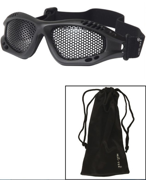 Mil-Tec Black Tactical Goggles