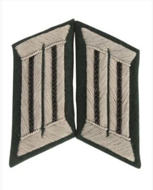 German Repro WWII Black Offc Collar Tabs - Pair