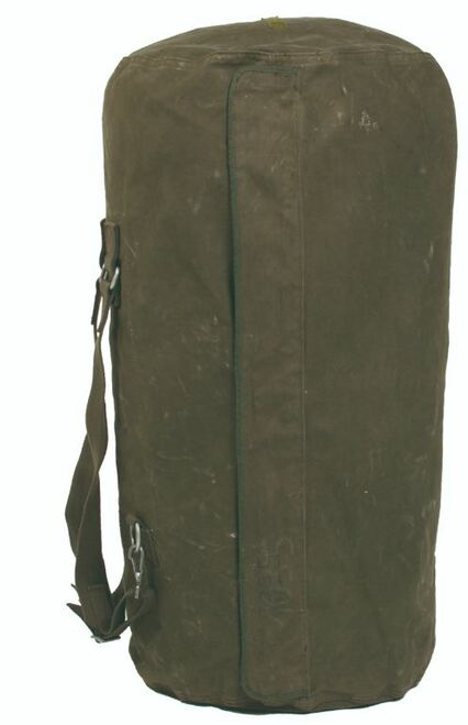 German Armed Forces Duffle Bag w/Zipper & Straps