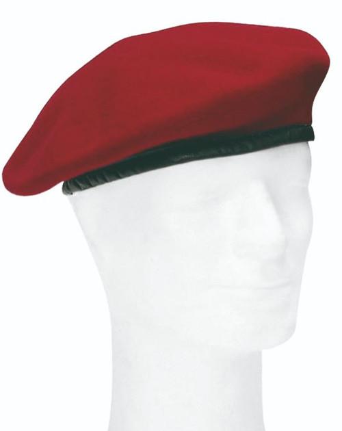 German Armed Forces Burgendy Wool Beret