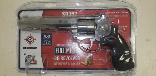 Crosman SR357 Silver Co2 Powered BB Revolver, 6 Shot 4.5mm cal. - Floor Model