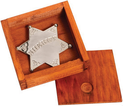 Silver Sheriff Star Badge