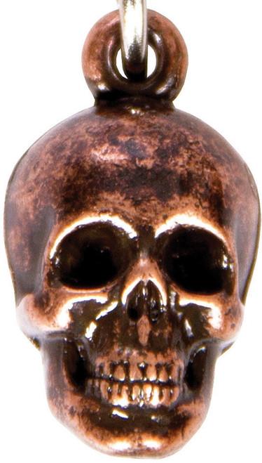 Skull Key Ring Bronze