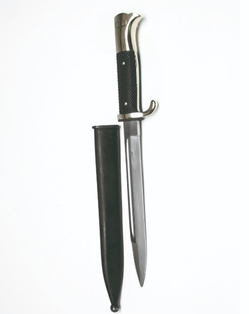 German Repro WWII Nickel Plated Bayonet