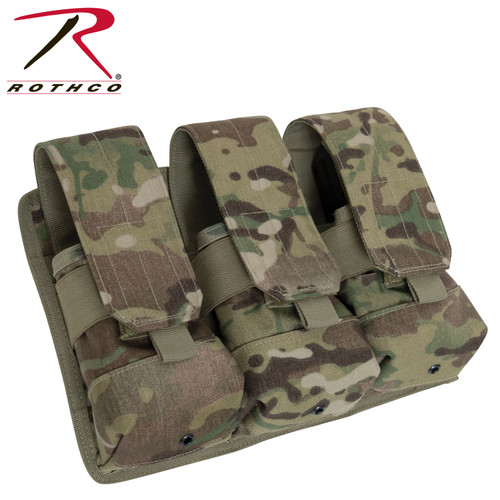 Rothco Universal Triple Mag Rifle Pouch - MultiCam