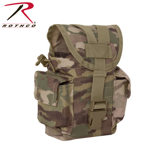 Rothco MOLLE II Canteen & Utility Pouch - MultiCam
