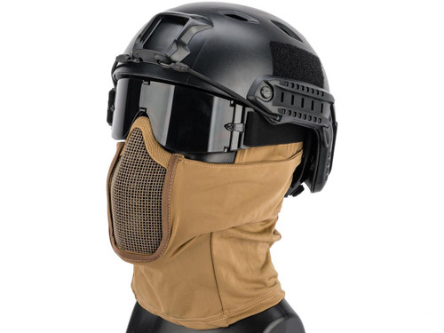 Matrix Shadow Fighter Headgear w/ Mesh Mouth Protector (Color: Tan)