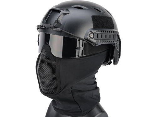 Matrix Shadow Fighter Headgear w/ Mesh Mouth Protector (Color: Black)