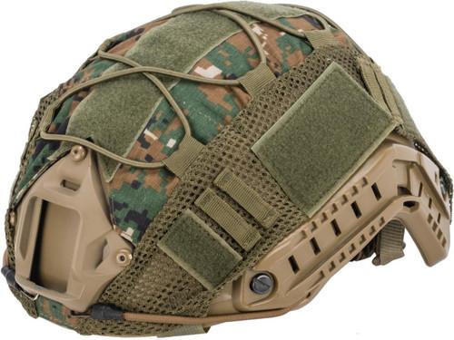 Matrix Bump Type Helmet Cover w/ Elastic Cord (Color: Digital Woodland)