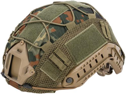 Matrix Bump Type Helmet Cover w/ Elastic Cord (Color: Flecktarn)
