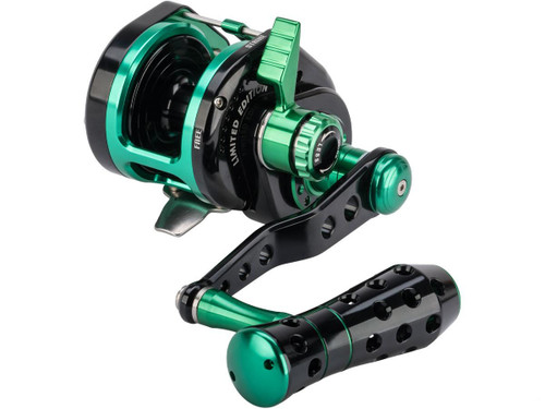 Jigging Master VIP Limited Edition Wiki Violent Slow Lever Wind Fishing Reel w/ Automatic Line Guide (Model: 1500XH Right Hand)