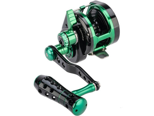 Jigging Master VIP Limited Edition Wiki Violent Slow Lever Wind Fishing Reel w/ Automatic Line Guide (Model: 2000XH Left Hand)
